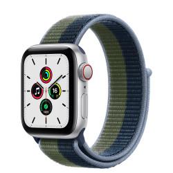 Apple Watch SE GPS Celular 40mm Plata AluMinium Funda Ass AzulMoss Verde Sport Círculo