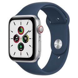 Apple Watch SE GPS Celular 44mm Plata AluMinium Funda Ass Azul Sport Regular