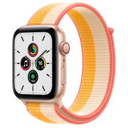 Apple Watch SE GPS Celular 44mm Oro AluMinium Funda MaizeBlanco Sport Círculo