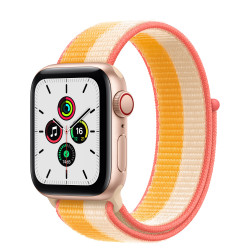 Apple Watch SE GPS Celular 40mm Oro AluMinium Funda MaizeBlanco Sport Círculo