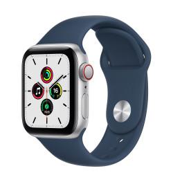 Apple Watch SE GPS Celular 40mm Plata AluMinium Funda Ass Azul Sport Regular